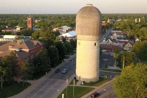 Ypsilanti Aerial View of the Water Tower