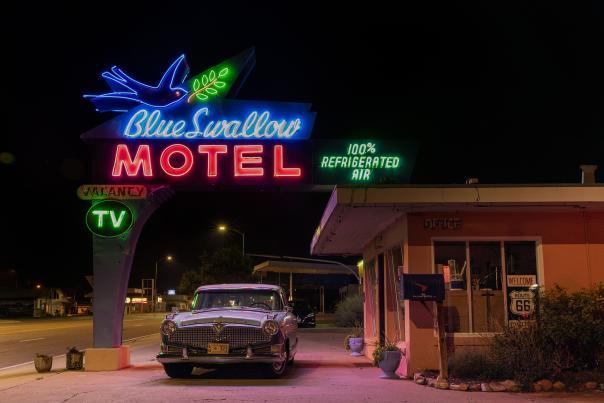 Blue Swallow motel in Tucumcari