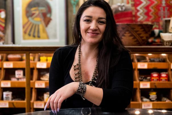 Emerald Tanner, Owner, Tanner's Indian Arts, Gallup, New Mexico Magazine