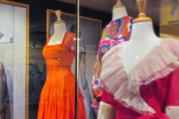 Several colorful gowns worn by Ava Gardner at the Ava Gardner Museum in Smithfield, NC.