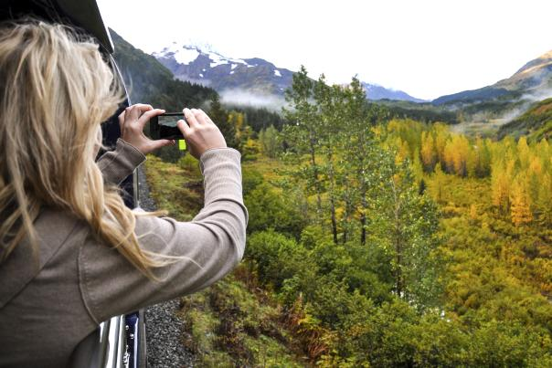 Alaska Railroad Grandview photo op