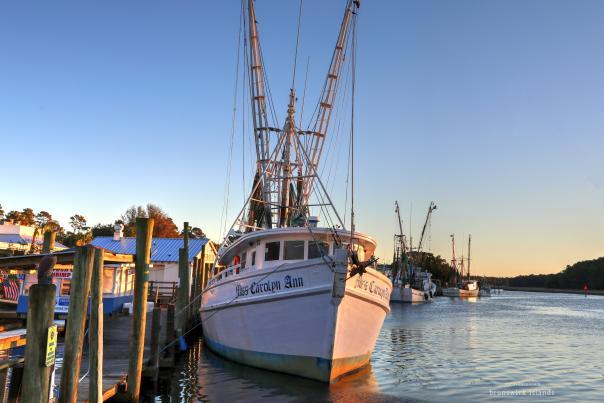 Miss Carolyn Ann shrimp boat dock in Calabash, NC