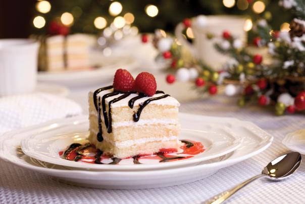 raspberry cake for holiday dessert