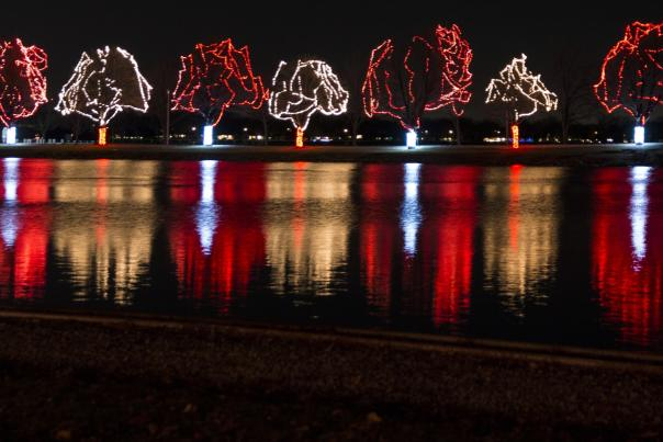 Celebration of Lights reflections