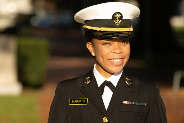 Sydney Barber of the United State Naval Academy.