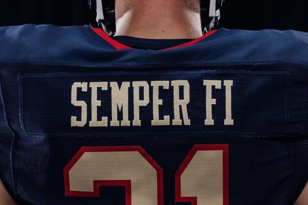 Navy vs, Air Force football Uniform
