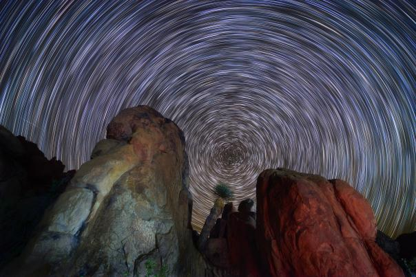 Star Trails and Boulders_Big Bend_H