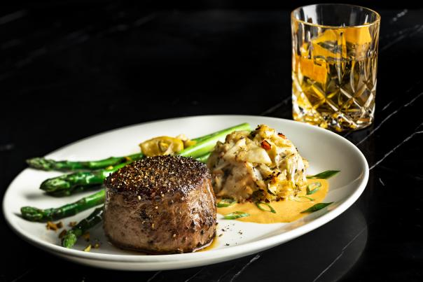 Del Frisco's Double Eagle Steak House filet and crab cake dinner