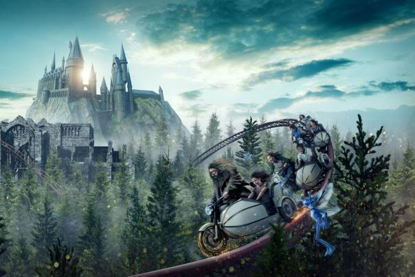 Hagrid's Magical Motorbike Adventure ride at Universal's Islands of Adventure.