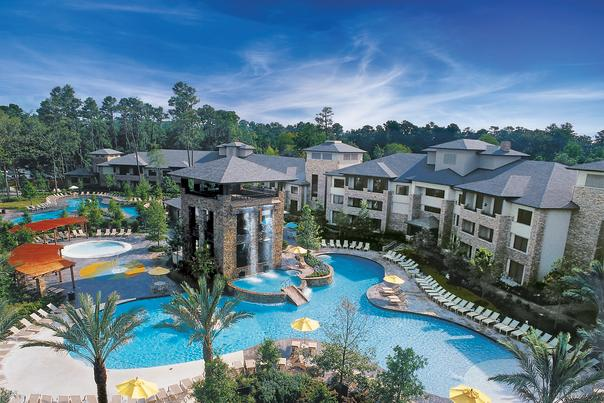 The Woodlands Resort Pool Aerial