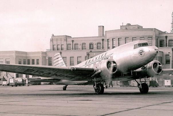 Historic Exterior of the Wichita Municipal Airport (now the Kansas Aviation Museum)