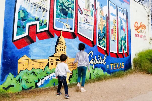 Greetings from Austin Mural. Credit Maria Sanchez, Lifetime Usage
