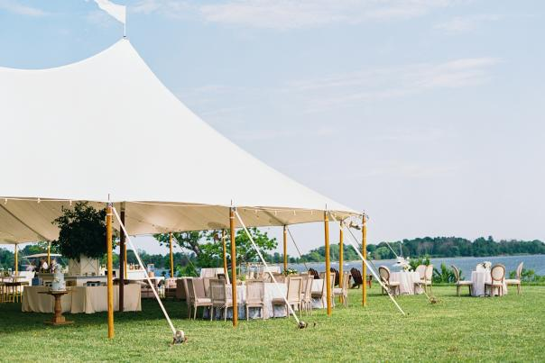 Tent and events rentals at Whitehall Manor on the Chesapeake Bay.