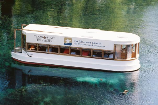 Glass bottom boat tour at Spring Lake