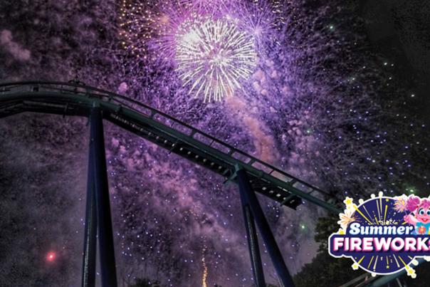 Fireworks at Sesame Place