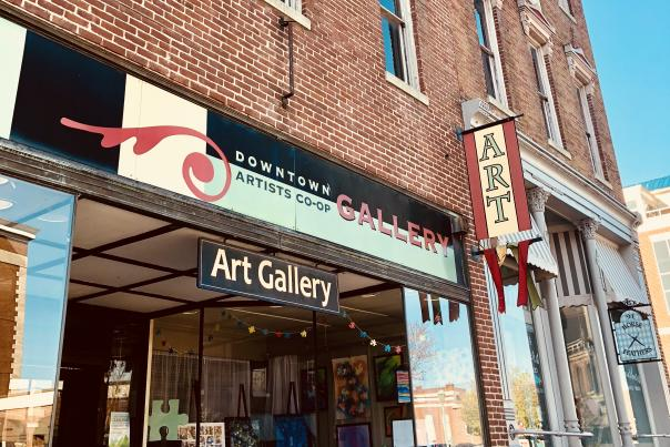 art gallery in a historic building