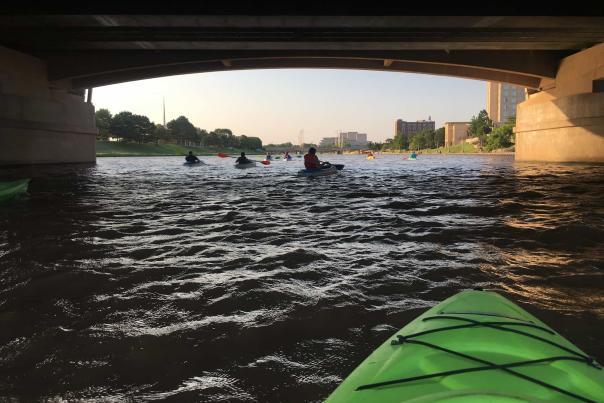 Floating the Arkansas River Under Waterman on a Kayak