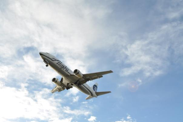 Alaska Air Arriving in Anchorage - Brenda Carlson