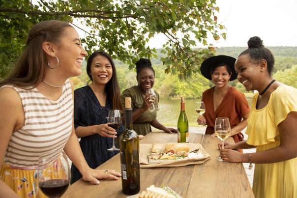 Girlfriends at Doukenie Winery