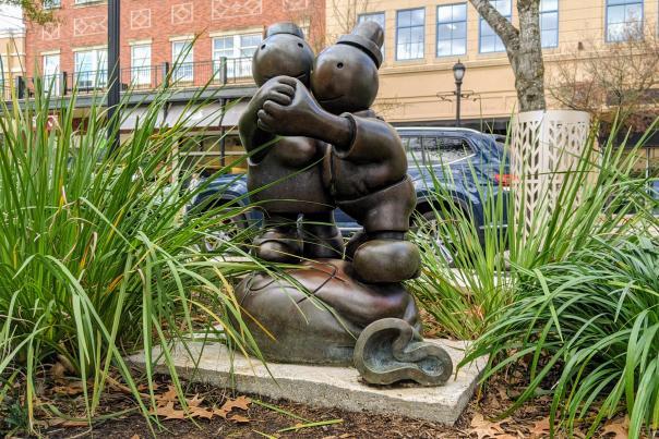 Public Art in The Woodlands: Free Money Sculpture