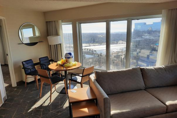 Delta Downtown Staycation room and view