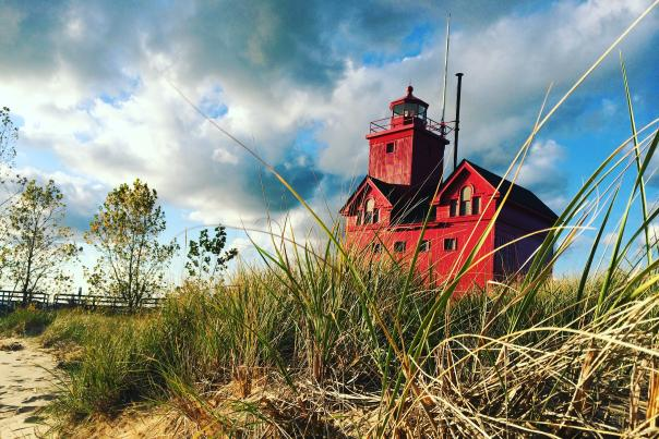 Holland - Big Red - Lighthouse. Pedestrian access to Big Red is available on Tuesdays and Thursdays to local residents from Memorial Day to Labor Day.