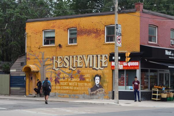 Street art in Toronto's Leslieville neighbourhood