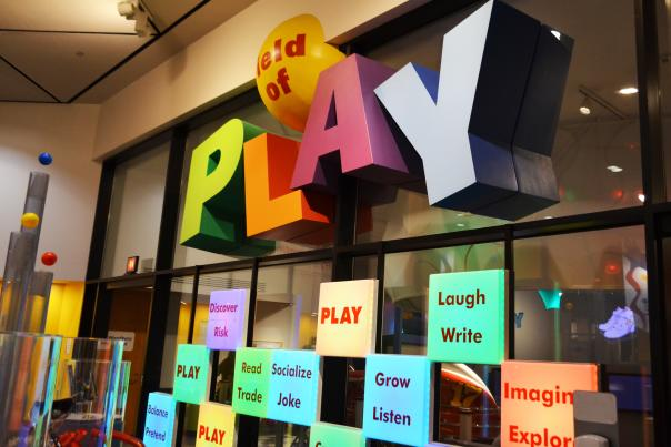 One of the hands on play zones at The Strong
