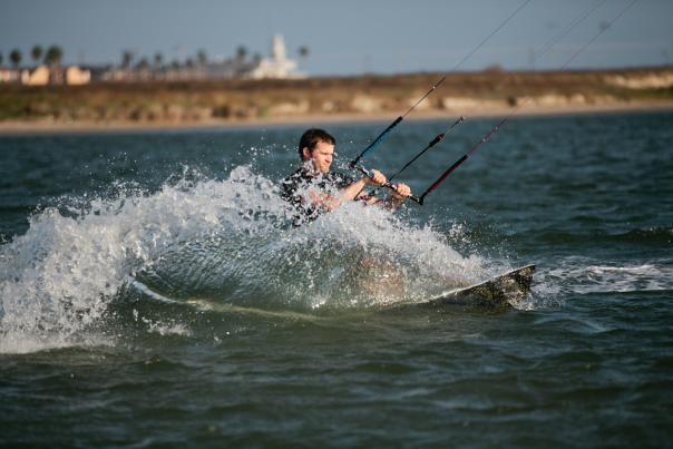 Kitesurfing-Corpus Christi-Board in Water-H