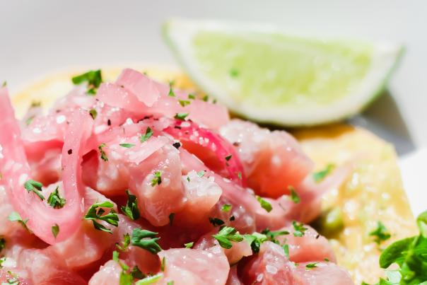 Plate of ceviche on the Crystal Coast, NC