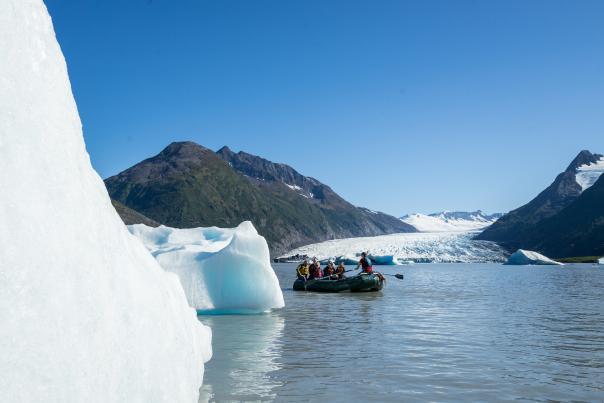 Rafting at Spencer Glacier