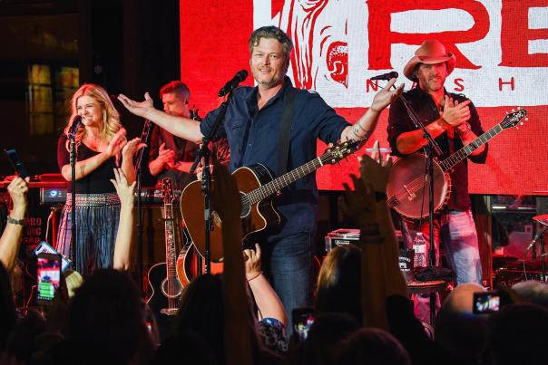 Blake Shelton on stage at Ole Red at ICON Park on International Drive.