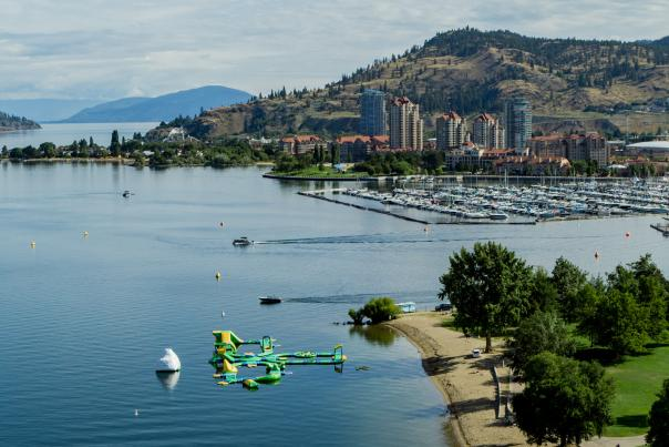 Downtown Kelowna Aerial (Summer) - Cropped