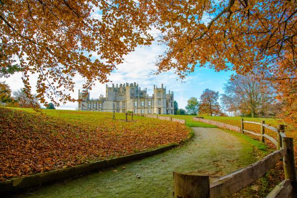 Sherborne Castle and Gardens in autumn