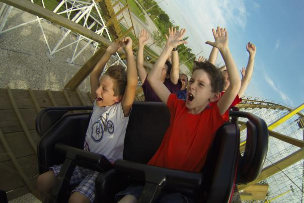 Fun Spot America white lightning rollercoaster