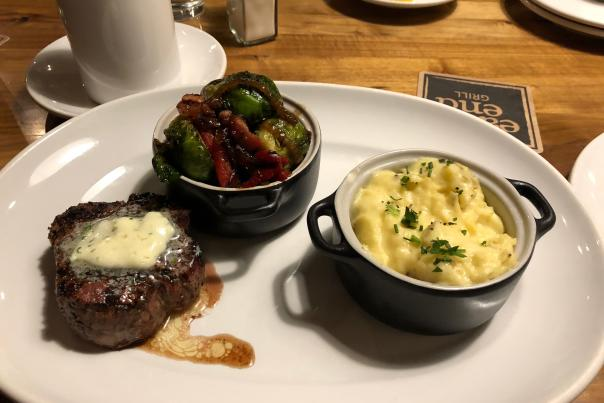 East End Grill Steak Meal