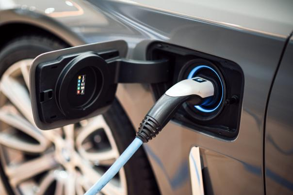 Electric Car Charging - stock image