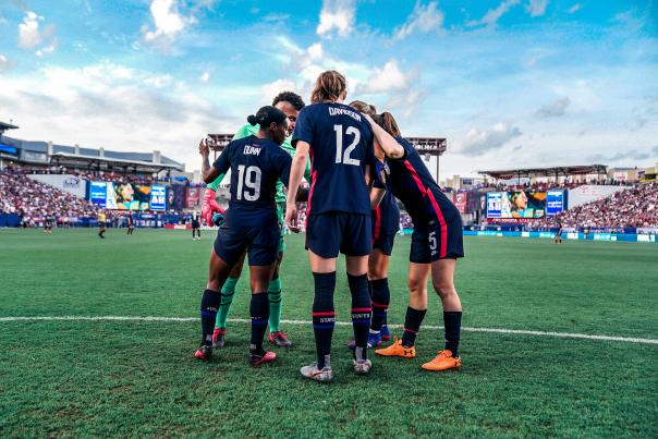USWNT. Courtesy of US Soccer.