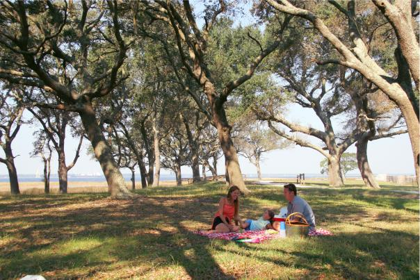 Family Picnic at Fort Fisher State Historic Site