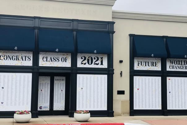 2021 Graduation Wall at Market Street