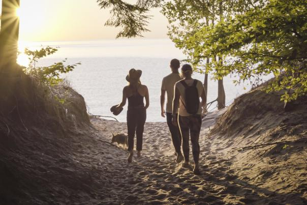 Hiking to the Dunes at Saugatuck Dunes State Park