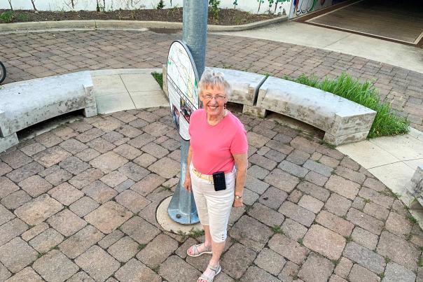 Diana Virgil at the B&O Trail