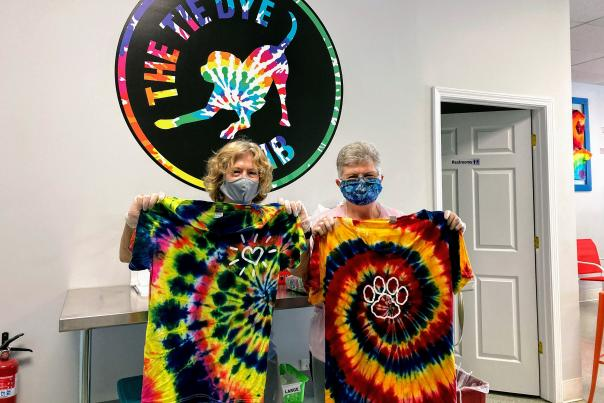 The Tie Dye Lab with people wearing masks