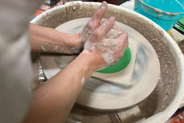 Throwing Wheel Pottery