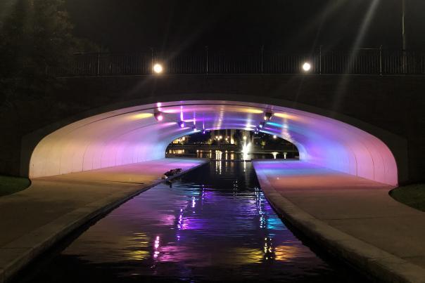 Big Spring Park Light Trail Photo Tunnel
