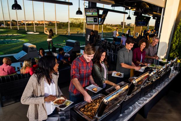 Topgolf catering at event