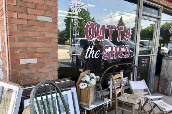 Outta the Shed, antique store, plainfield, storefront,
