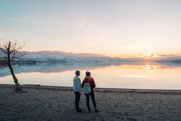 Kelowna Vibes Products - Lakeview Winter Sunset