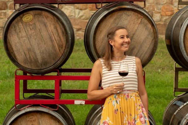 Doukenie Wine Barrels Woman