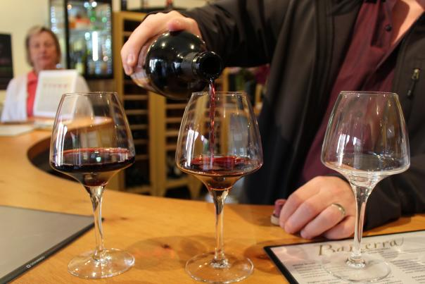 Barterra Winery Wine Pouring at Tasting Room